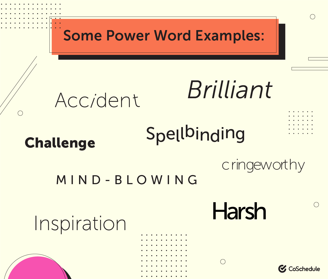 Some power word examples