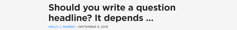 Question headline
