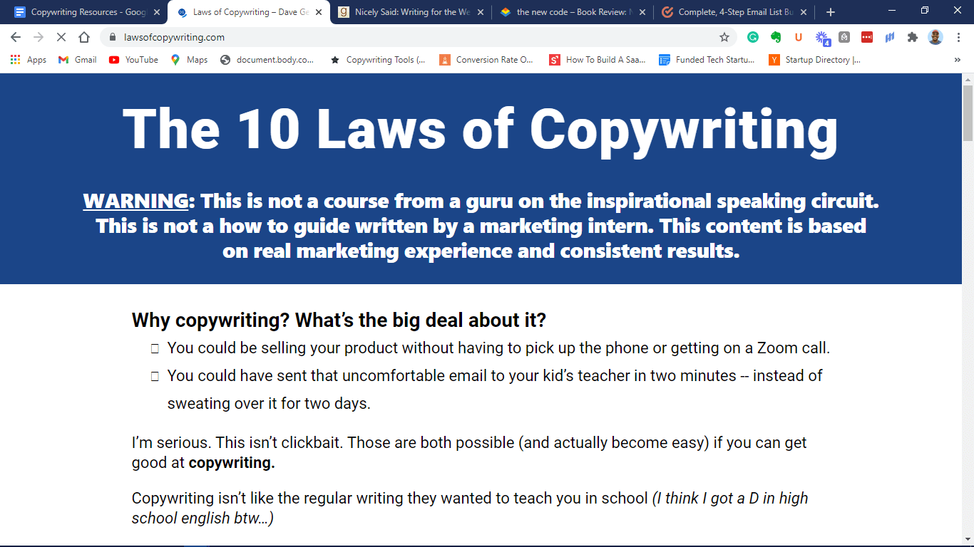 10 Laws of Copywriting