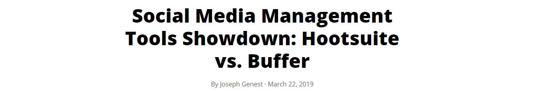 Versus headline