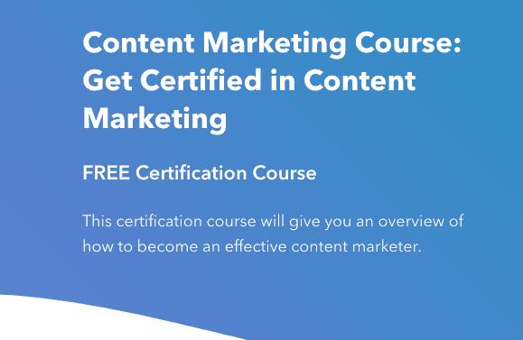 HubSpot Academy Content Marketing Certification