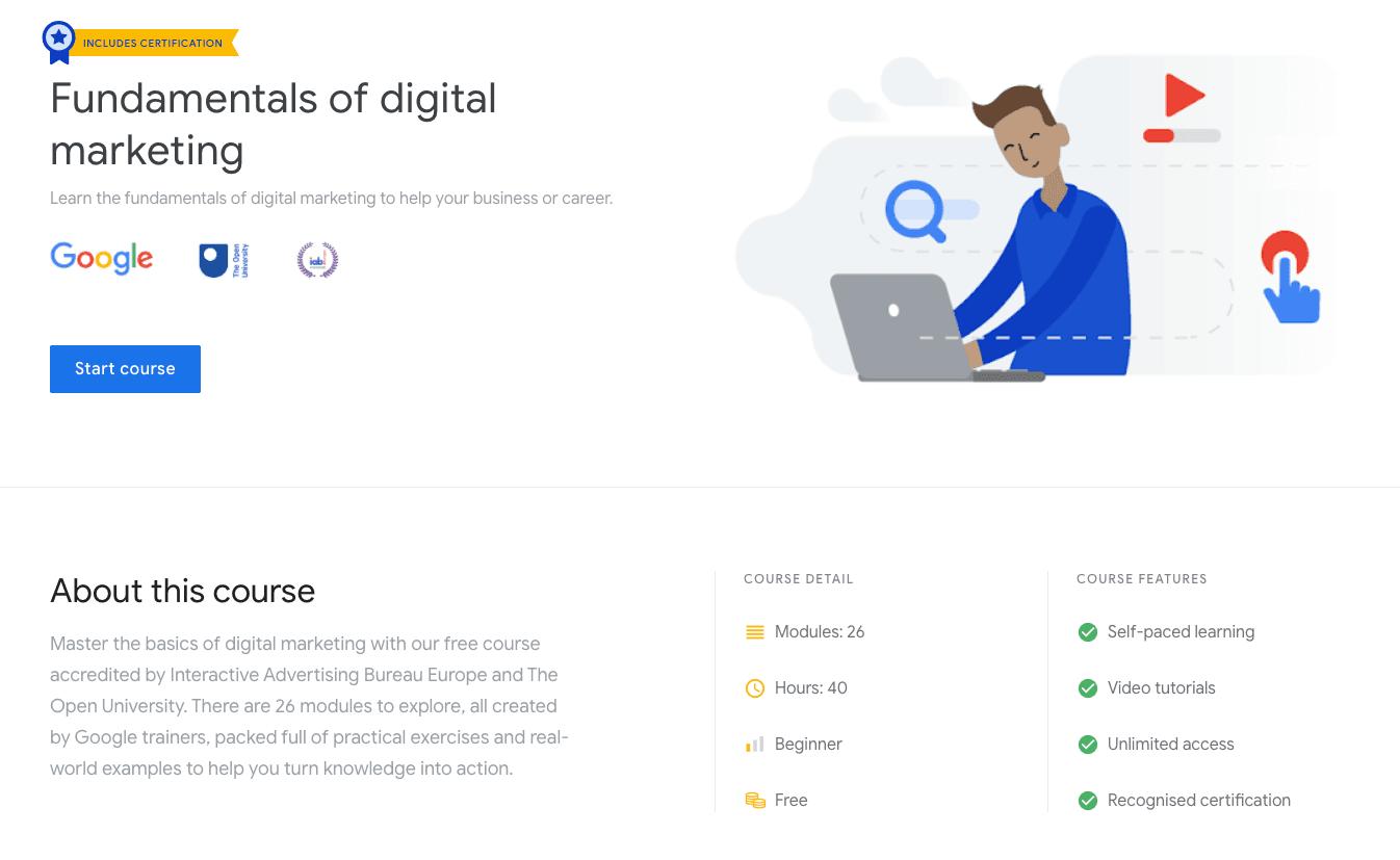 Google Digital Garage: Fundamentals of Digital Marketing