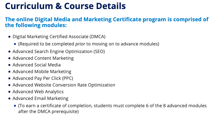 Duke Digital Media & Marketing Course