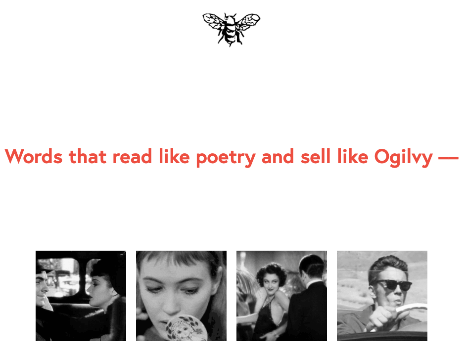 Poetic copywriting Oglivy
