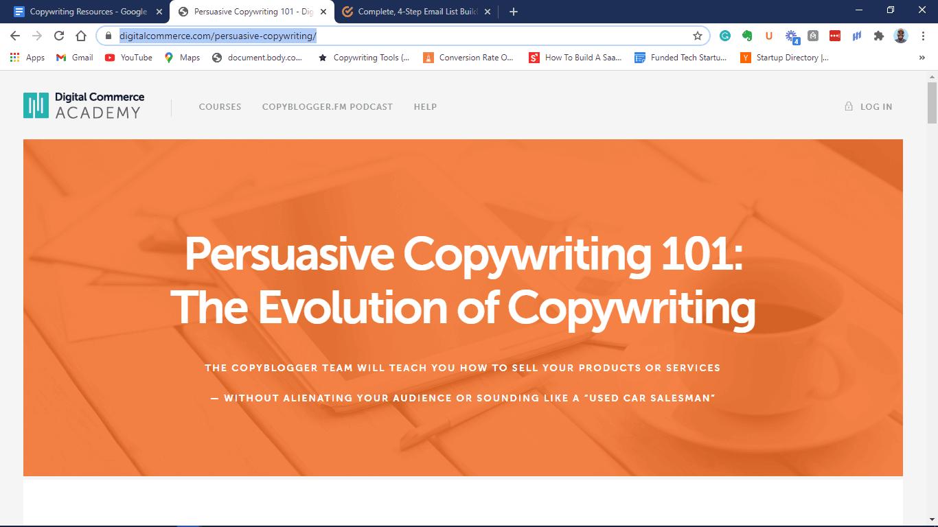 Persuasive Copywriting 101