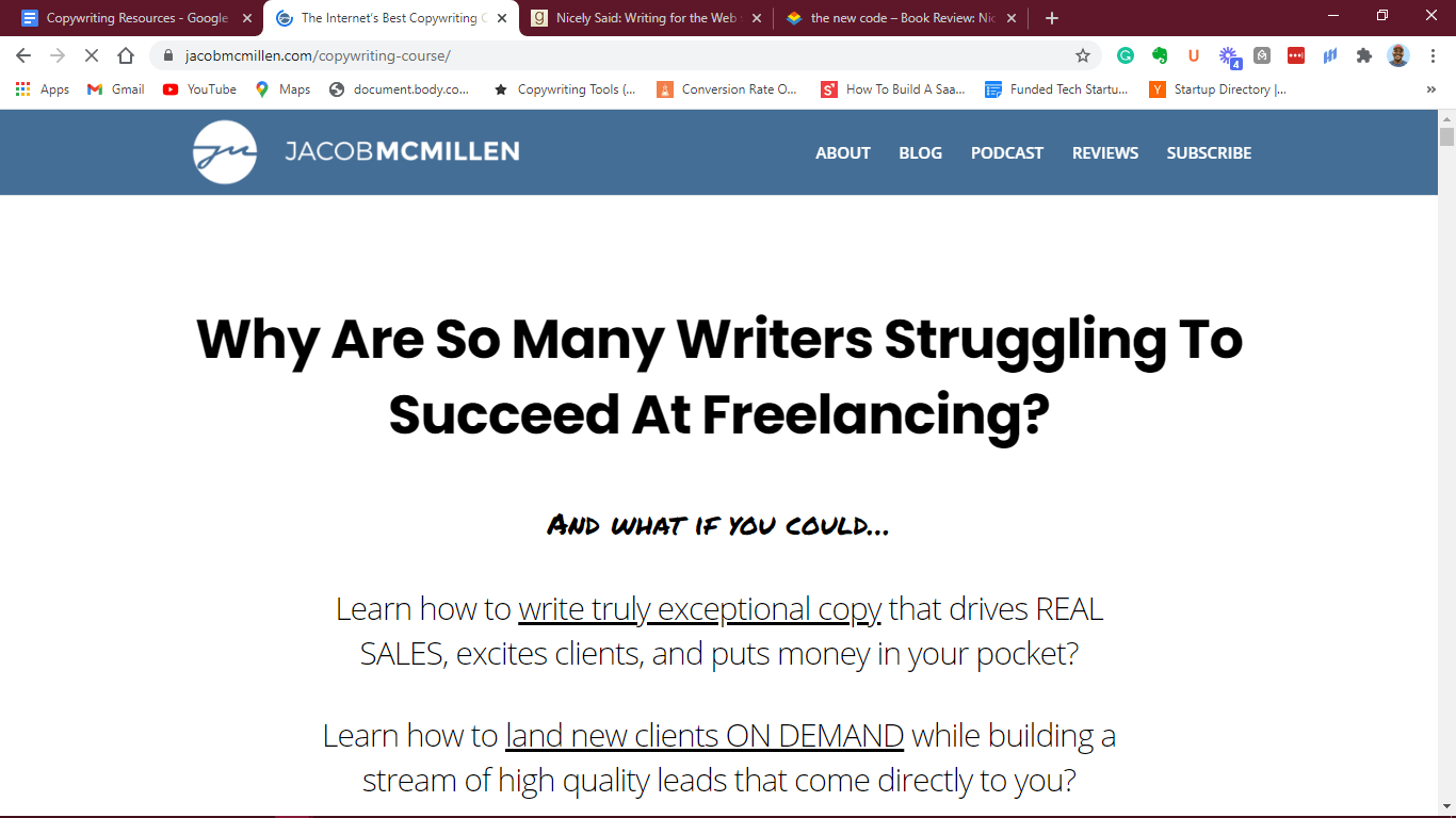 Freelance Copywriting Course