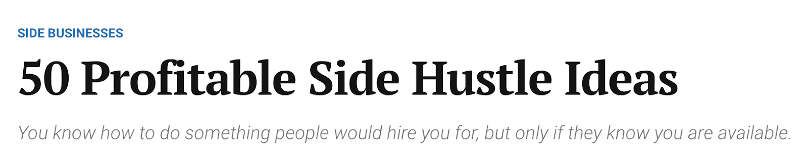 50 Profitable Side Hustle Ideas