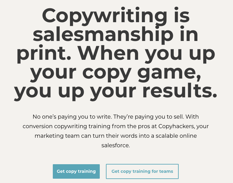 Copywriting training