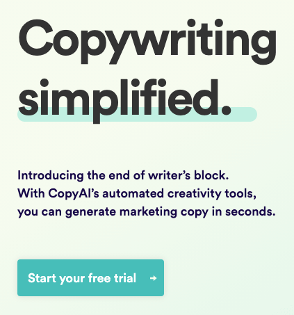 Copy.ai copywriting