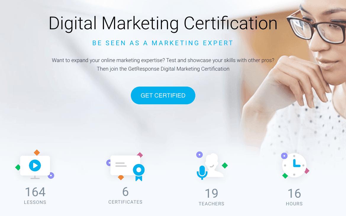 GetResponse Digital Marketing Certification