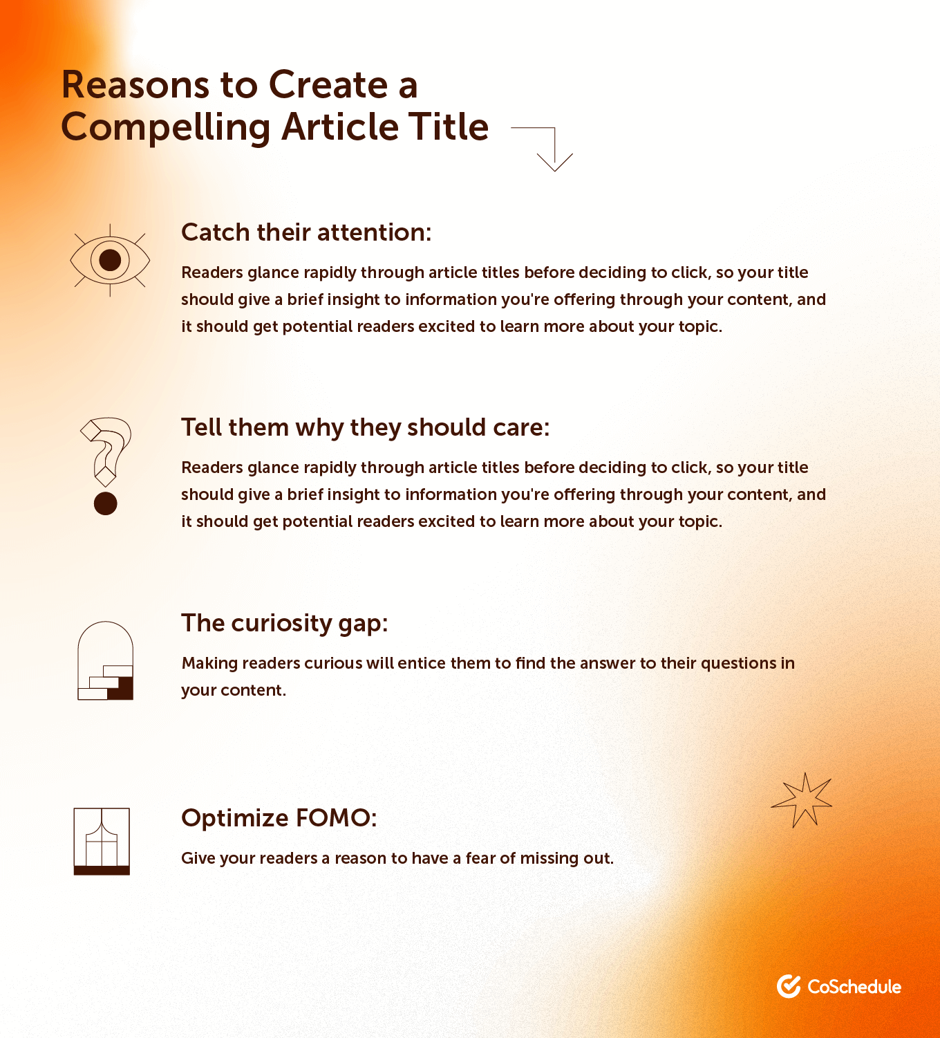Reasons to Create a Compelling Article Title