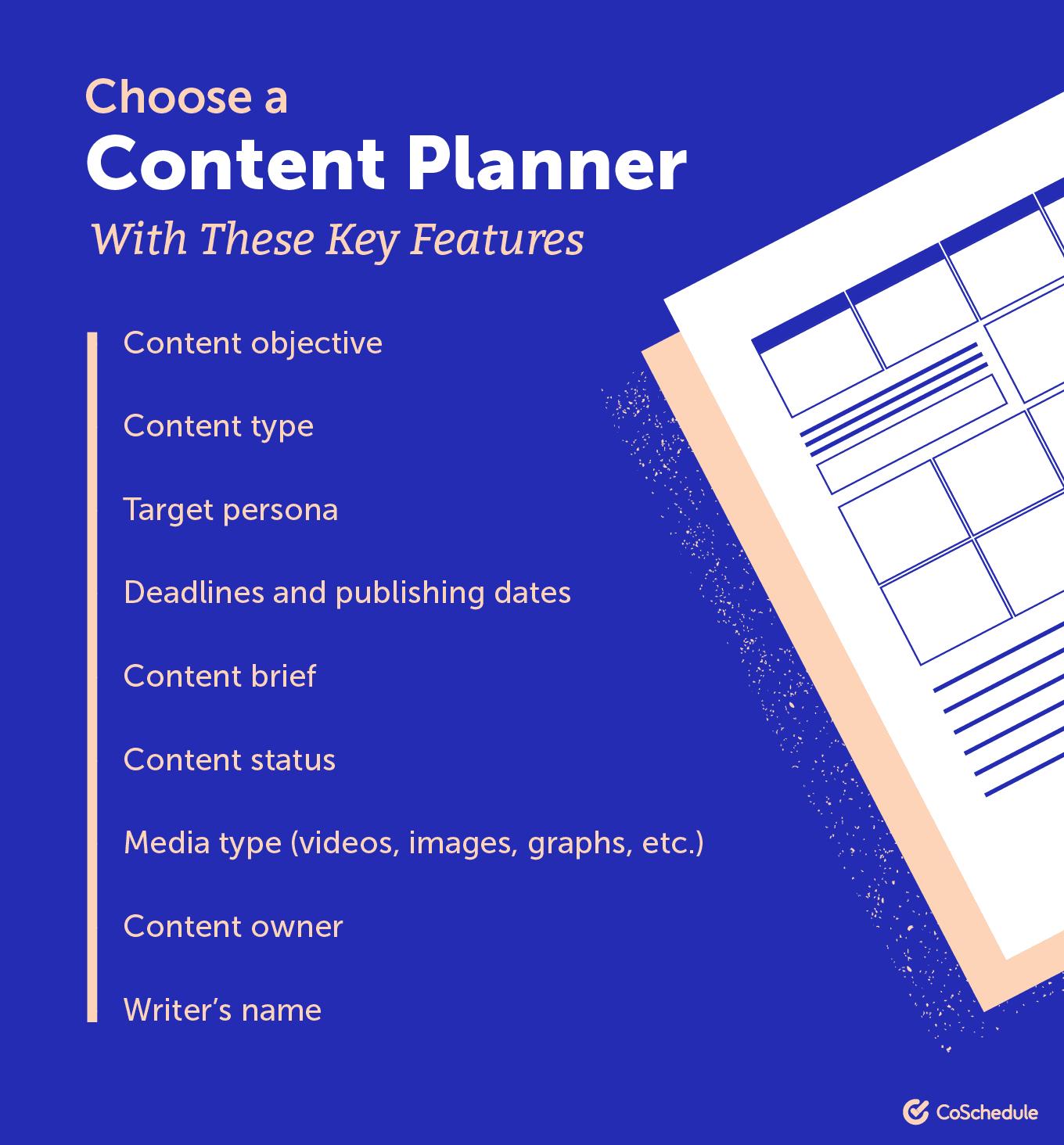 Choosing a content planner