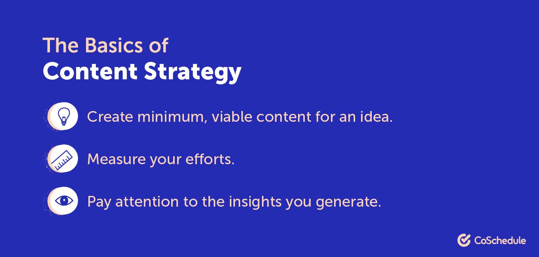 Content strategy basics
