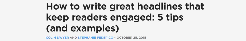 """""""How-To"""" headline"""