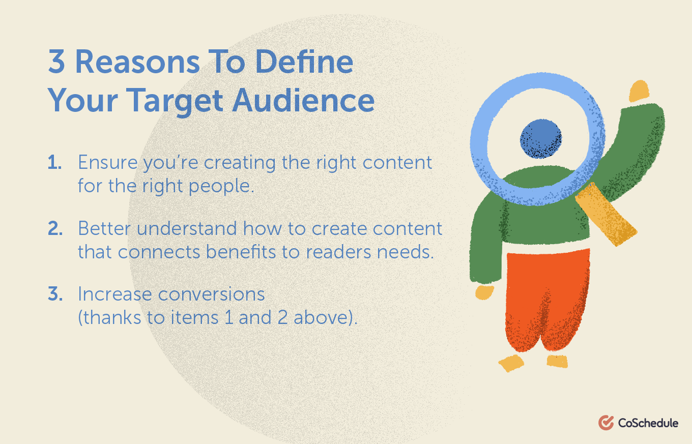 Reasons to define your target audience