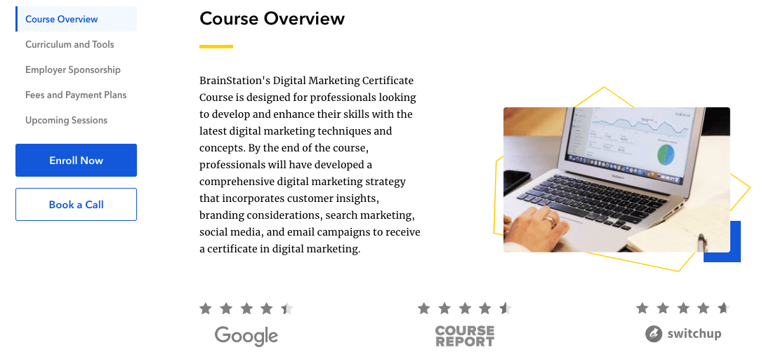 BrainStation Digital Marketing Course