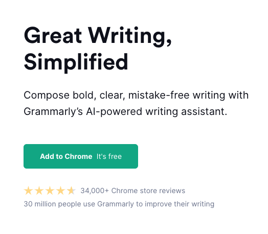 Grammarly copywriting