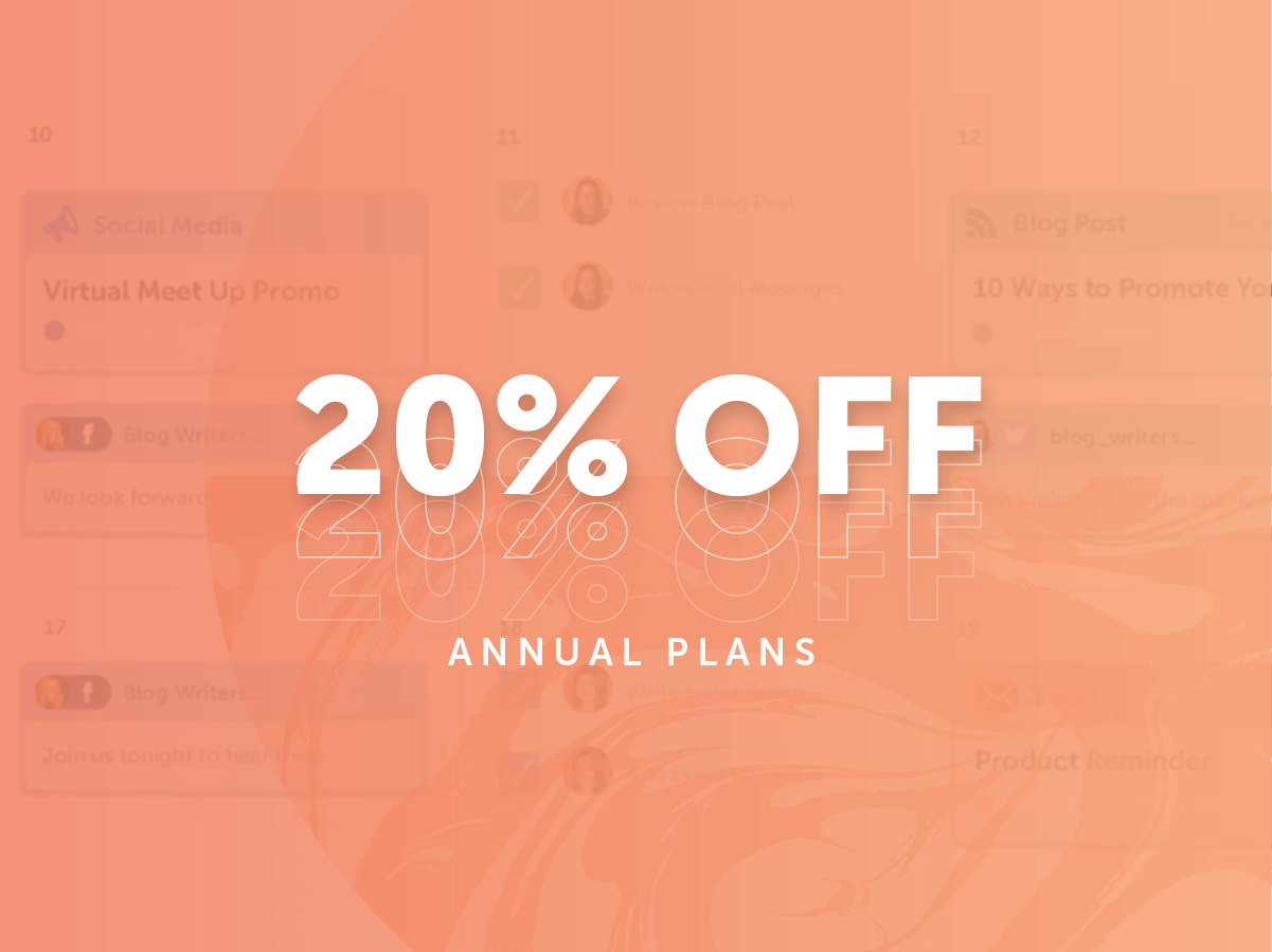 20% Off Annual Plans