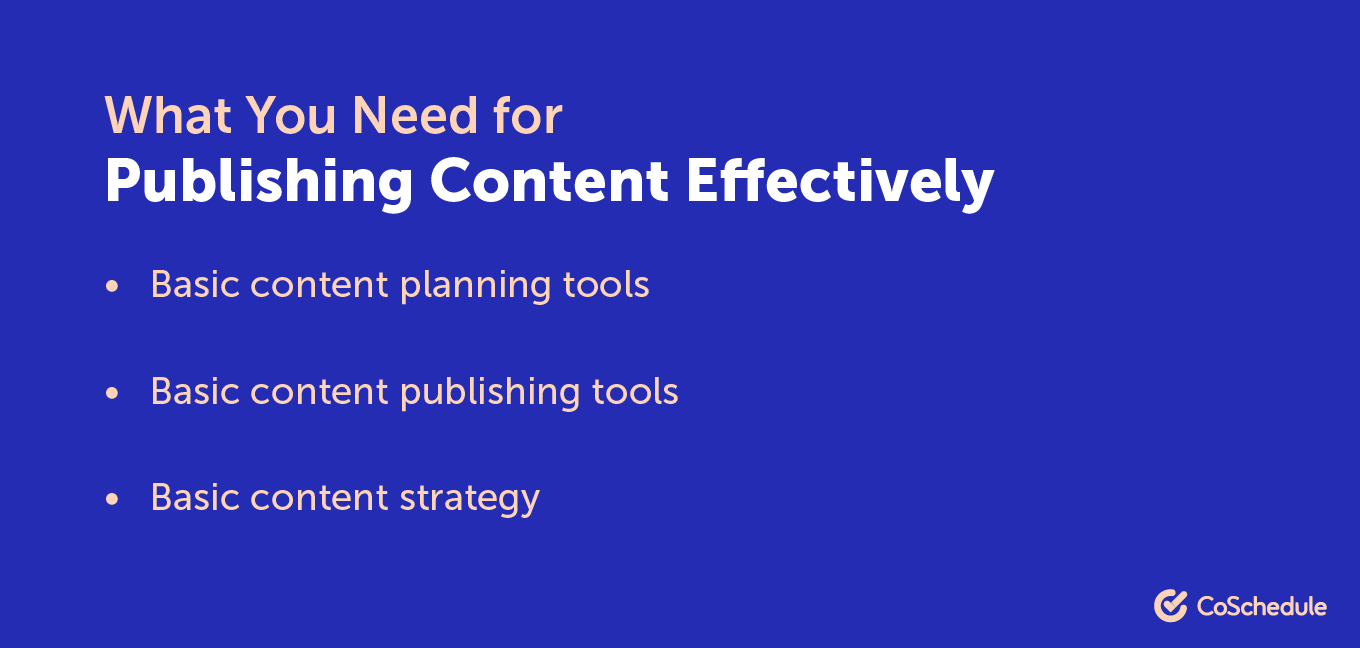 How to publish content effectively