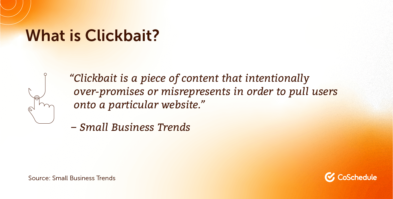 What is clickbait?