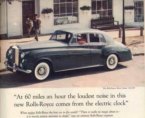 Rolls-Royce Ad Headline