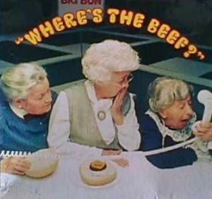 Where's the Beef legendary ad headline
