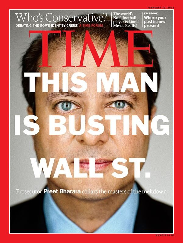 Wall St. time Magazine headline cover