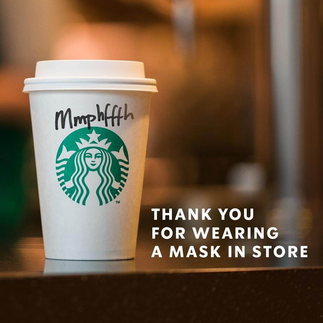 Starbucks strong advertisement headline