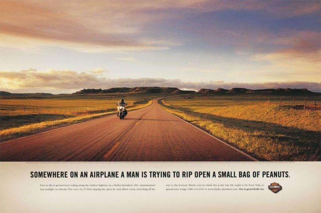 Harley-Davidson strong advertising headline