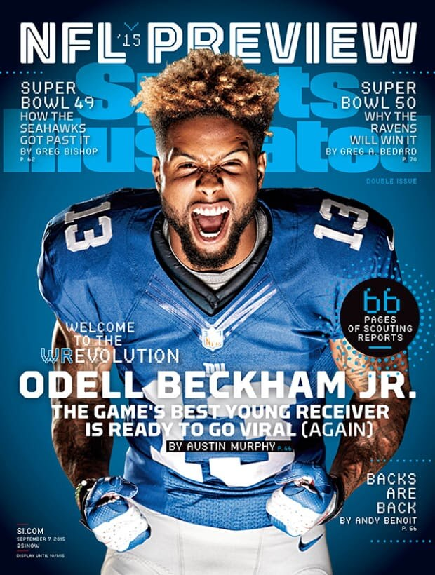 OBJ Sports Illustrated magazine cover headline