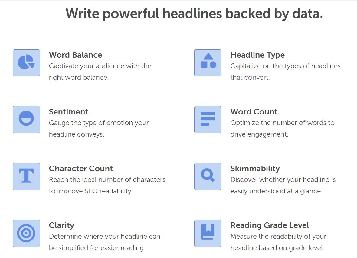 Headline Studio features