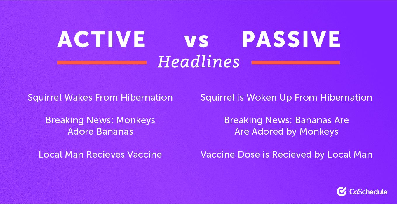 Active vs. Passive Headlines