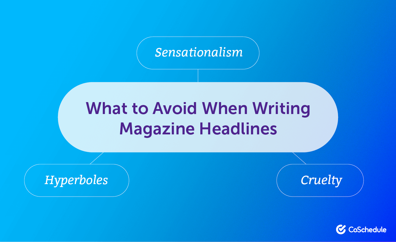 What to Avoid in Magazine Headlines