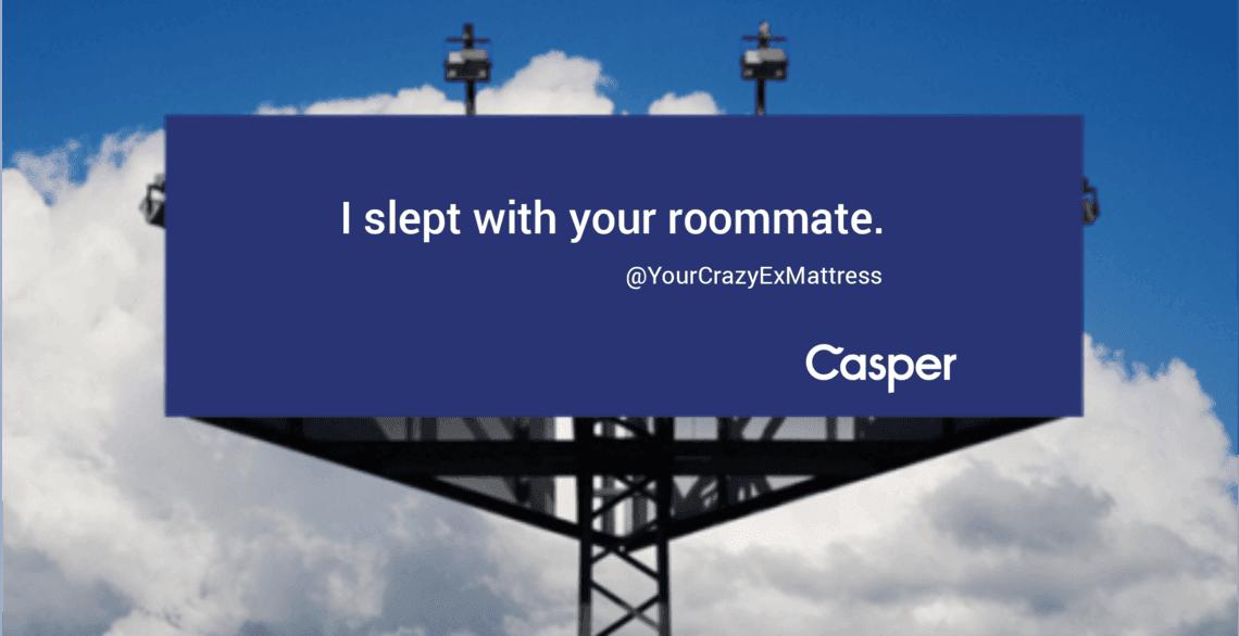 Casper powerful ad headline