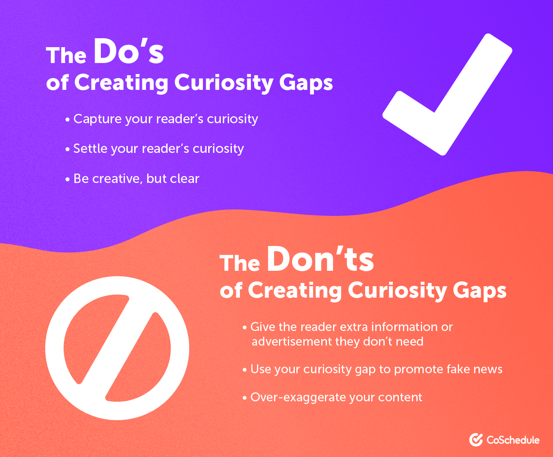 Curiosity Gaps Dos and Don'ts