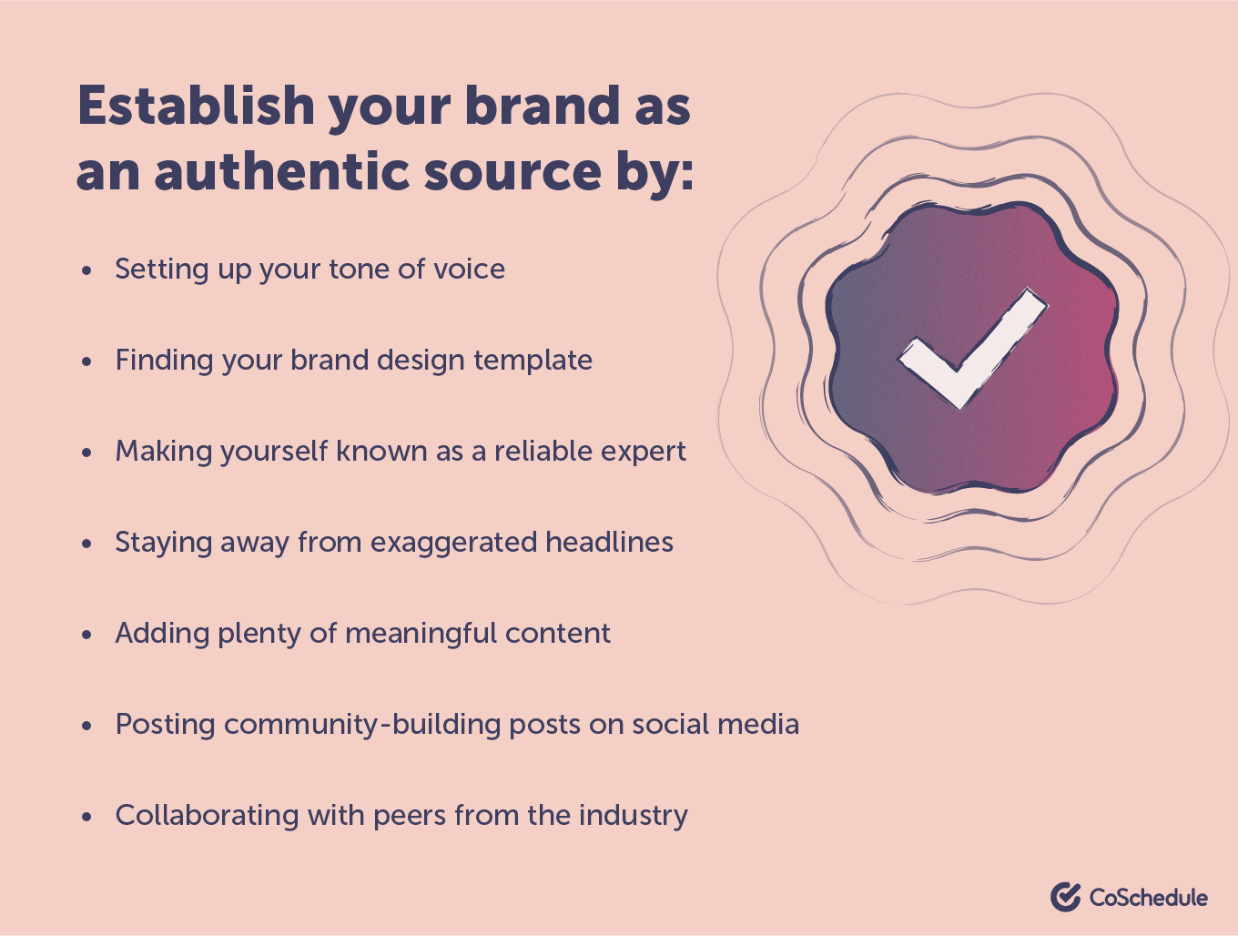 Establish your brand as a trusted source infographic