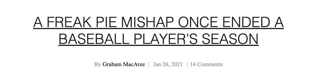 Freak Pie Mishap Magazine Headline