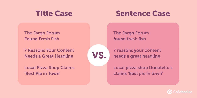 Title Case vs Sentence case