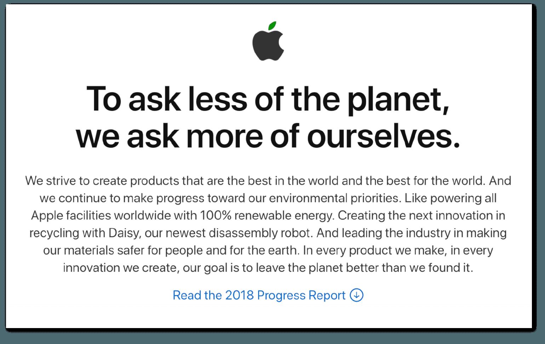 Apple Environmental PR Campaign Example