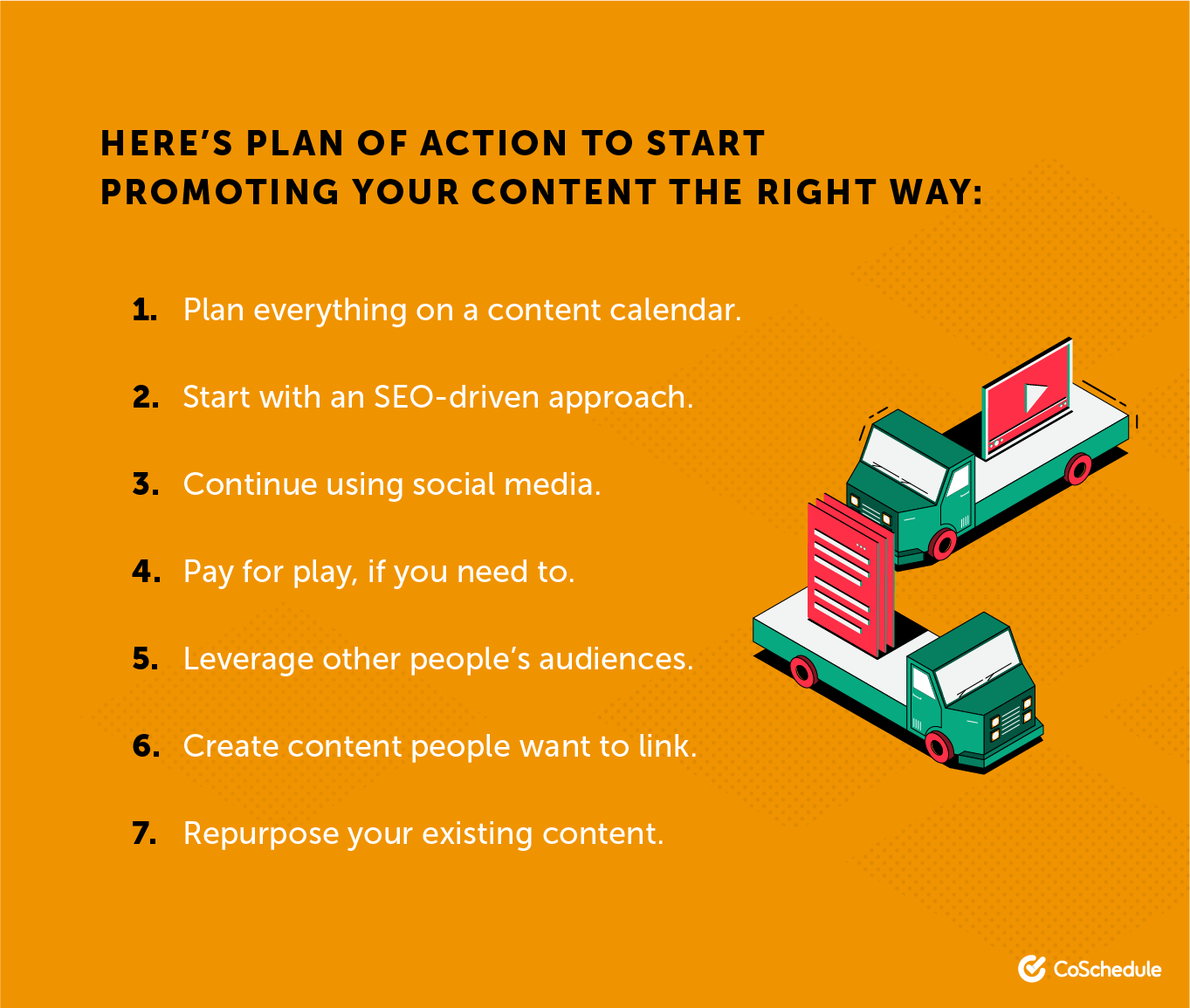 Content distribution action plan