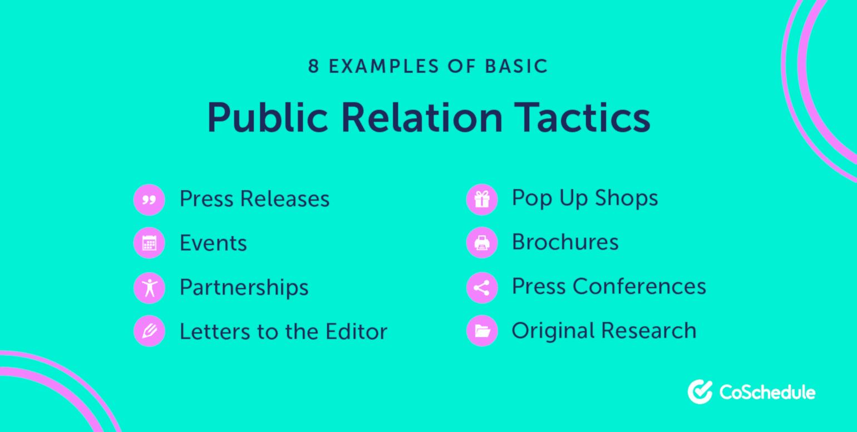 8 Examples of PR Tactics