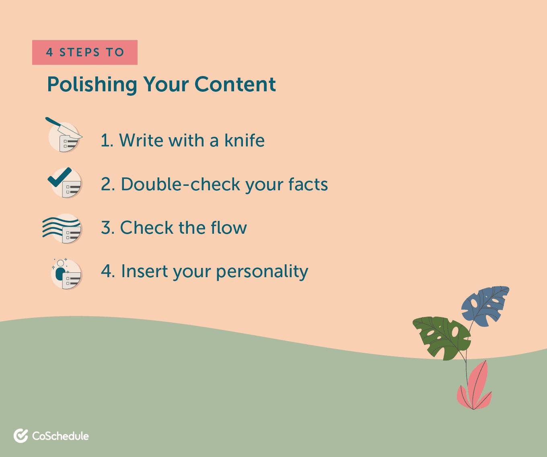Steps to polish your unique content
