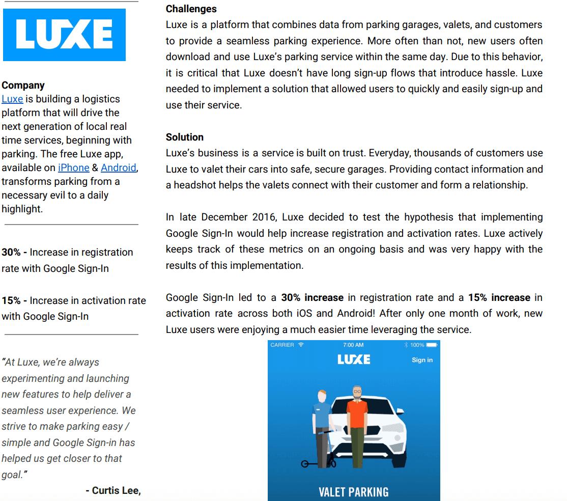 Google Luxe case study example