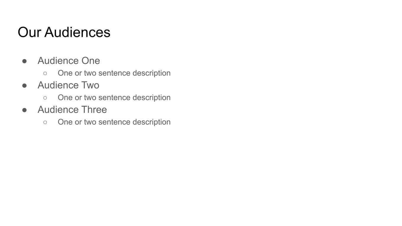 Audience descriptions