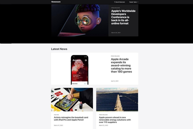 Tech press page