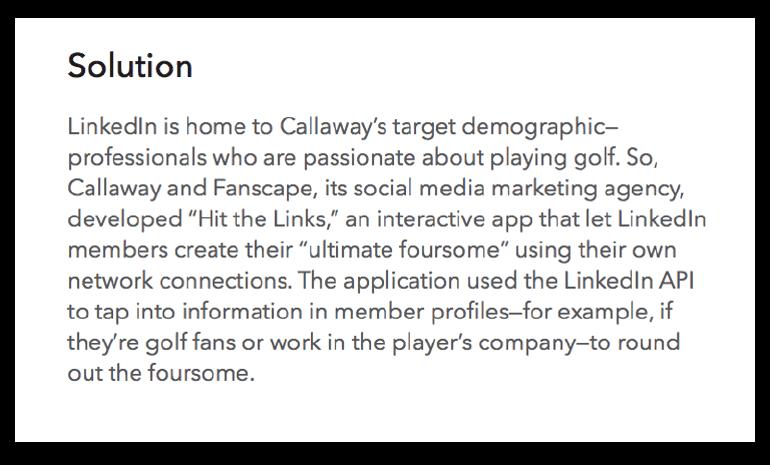 Callaway Golf solution example
