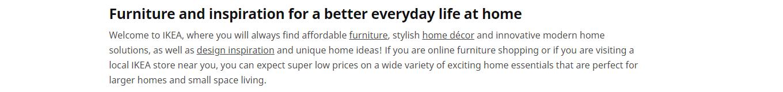 IKEA inspiration messaging