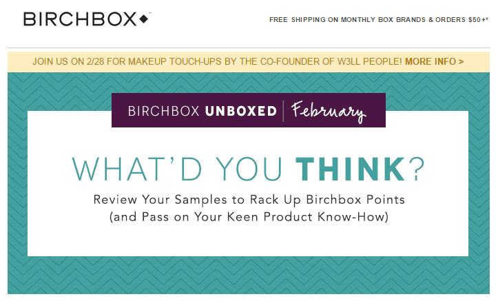 Birchbox customer survey