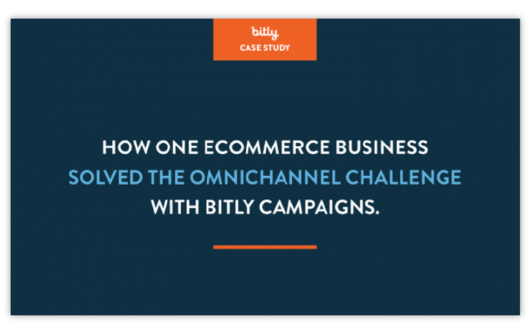 Example headline from a bit.ly case study