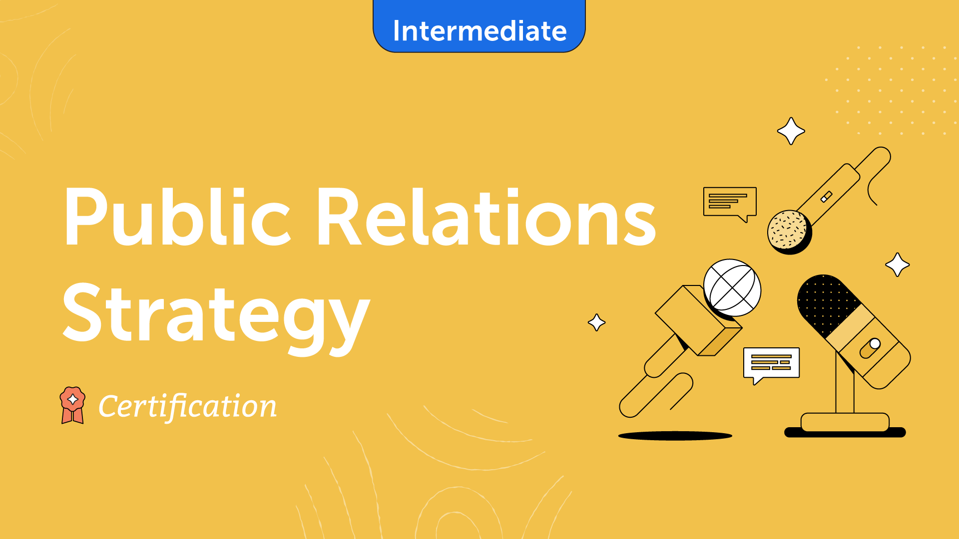 Public Relations Strategy Certification Course Card